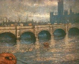 Claude Monet: Themsebrücke und Parlamentsgebäude in London