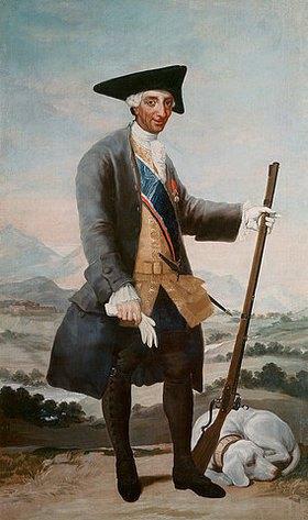 Francisco José de Goya: Karl III. von Spanien im Jagdkostüm