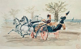 Henri de Toulouse-Lautrec: Ausfahrt im Zweispänner