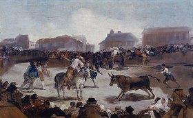 Francisco José de Goya: Stierkampf in einem Dorf