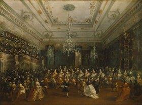 Francesco Guardi: Venezianisches Galakonzert (in der Sala dei Filarmonici)