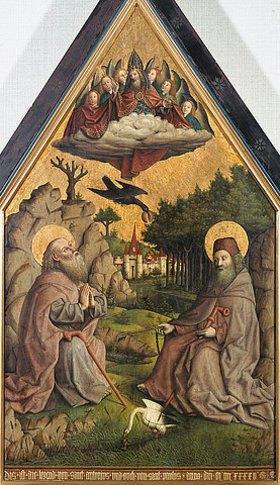 Baseler Meister: Die Speisung der heiligen Einsiedler Antonius und Paulus