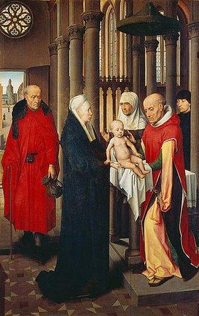 Hans Memling: Die Darstellung im Tempel. Rechte Tafel des Dreikönigsaltars