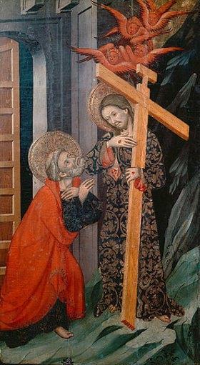 Luis Borrassá: Jesus erscheint dem hl.Petrus. Tafel des Petrus-Altars aus Tarrassa
