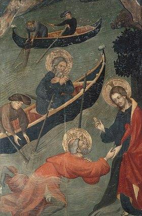 Luis Borrassá: Der wundersame Fischzug Petri. Tafel des Petrus-Altars aus Tarrassa