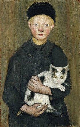 Paula Modersohn-Becker: Knabe mit Katze