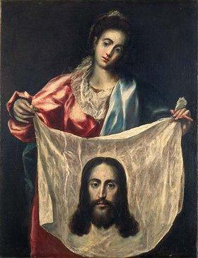 Greco El (Dom.Theotokopoulos): Die hl. Veronika mit dem Schweißtuch Christi