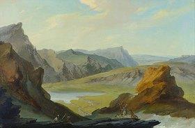 Kaspar Wolf: Blick vom Balmeregghorn auf den Melchsee