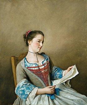 Jean Etienne Liotard: Bildnis der Mlle.Lavergne, der Nichte des Künstlers