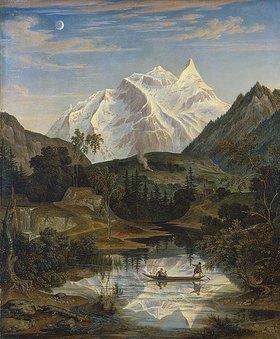 Joseph Anton Koch: Gebirgslandschaft mit See