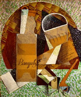 Juan Gris: Bouteille de Banyuls