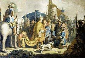 Rembrandt van Rijn: David übergibt König Saul das Haupt Goliaths