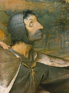 Pieter Brueghel d.Ä.: Das Gleichnis von den Blinden. 1568. Detail (Kopf eines blinden Mannes)