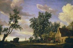 Salomon van Ruysdael: Das Wirtshaus Zum weißen Schwan
