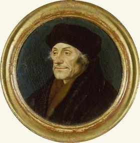 Hans Holbein d.J.: Bildnis des Erasmus von Rotterdam im Rund