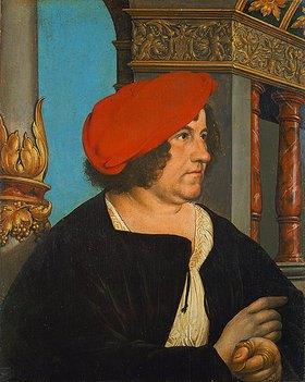Hans Holbein d.J.: Bildnis des Basler Bürgermeisters Jacob Meyer zum Hasen. 1516 (Doppelbildnis, siehe auch Bildnummer 10707)