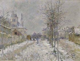 Claude Monet: Der schneebedeckte Boulevard de Pontoise in Argenteuil