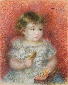 Auguste Renoir: Kleines Mädchen mit Spielzeug