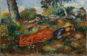 Auguste Renoir: Junges Mädchen, im Schatten ruhend (Jeune fille couchée sur l'herbe). About