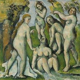Paul Cézanne: Fünf Badende (Cinq baigneuses)