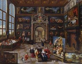 Frans Francken II.: Galerie eines Sammlers. (Zusammen mit Cornelis de Baellieur)