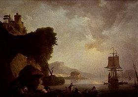 Philip James De Loutherbourg: Seestück mit Sonnenuntergang