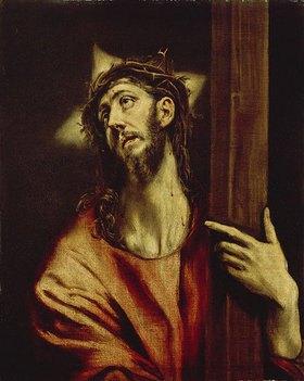 Greco El (Dom.Theotokopoulos): Christus mit dem Kreuz. Zwischen 1579 und