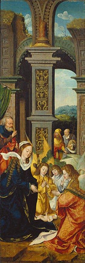 Antwerpener Meister: Die Geburt Christi