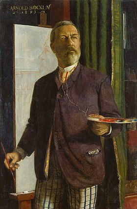 Arnold Böcklin: Selbstbildnis im Atelier