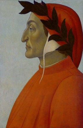 Sandro Botticelli: Bildnis von Dante Alighieri