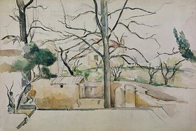 Paul Cézanne: Winter in Jas de Bouffan