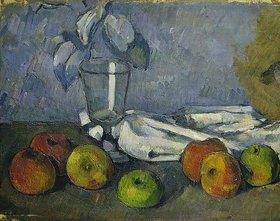 Paul Cézanne: Glas und Äpfel (Verrre et pommes)