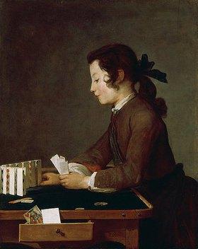 Jean-Baptiste Siméon Chardin: Das Kartenhaus. Wohl