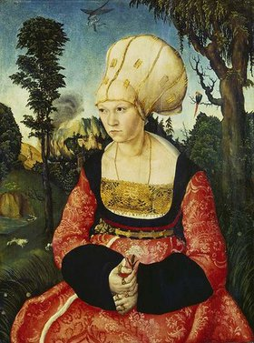 Lucas Cranach d.Ä.: Bildnis der Gattin des Dr.Cuspinian. Anna Cuspinian
