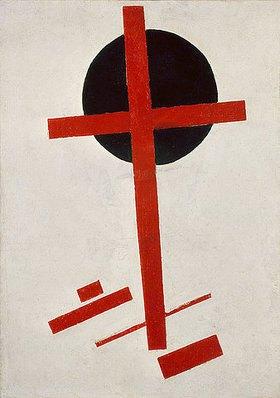 Kasimir Malewitsch: Rotes Kreuz auf schwarzem Kreis. Nach