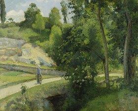 Camille Pissarro: Steinbruch bei Pontoise