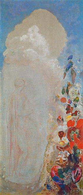 Odilon Redon: Frauengestalt und Blumen
