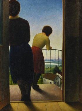 Georg Schrimpf: Auf dem Balkon