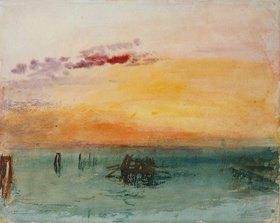 Joseph Mallord William Turner: Venedig, von Fusina aus gesehen. 1840 (?)
