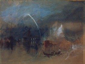 Joseph Mallord William Turner: Venedig, Santa Maria della Salute bei Nacht mit Raketen