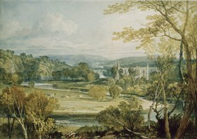 Joseph Mallord William Turner: Blick zur Bolton Abbey, Yorkshire. 1809