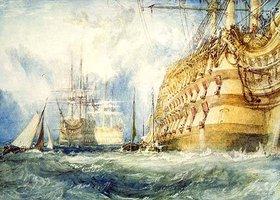 Joseph Mallord William Turner: Die Ausrüstung eines Kriegsschiffes erster Klasse