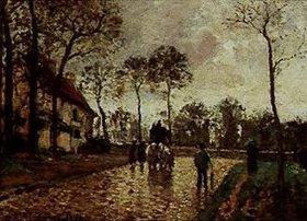 Camille Pissarro: La diligence, Louveciennes