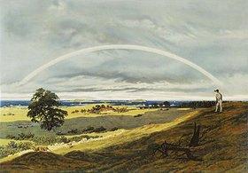 Caspar David Friedrich: Landschaft mit Regenbogen