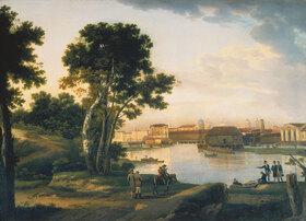 Silvester Stschedrin: St.Petersburg, Blick von der Petrowsky- Insel zur Tuchkov-Brücke und die
