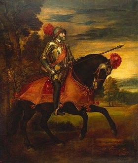 Tizian (Tiziano Vecellio): Kaiser Karl V. zu Pferde in der Schlacht bei Mühlberg
