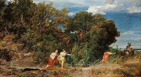 Arnold Böcklin: Die Jagd der Diana