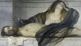Arnold Böcklin: Die trauernde Magdalena