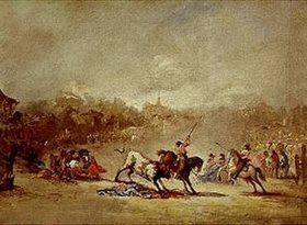 Eugenio Lucas: Stierkampf auf dem Dorfe