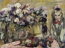 Lovis Corinth: Mädchen mit Blumen